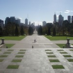 The Shrine of Remembrance Forecourt